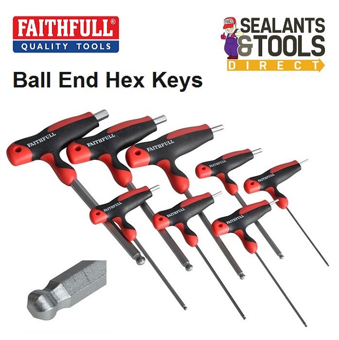 Faithfull T Handle Hex Allen Key Set FAIHKS8MTBLA