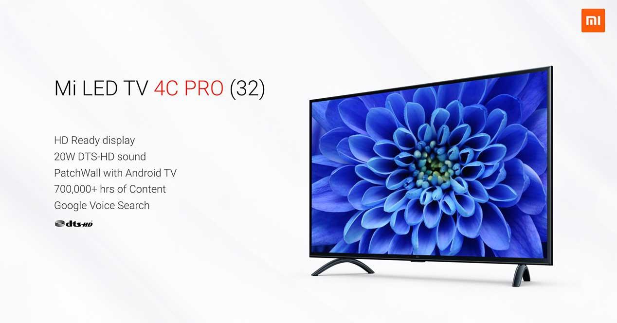 Mi LED TV 4C Pro, junto a sus principales características