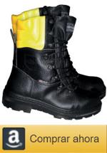 Botas de trabajo con protección anticorte, botas con puntera de acero