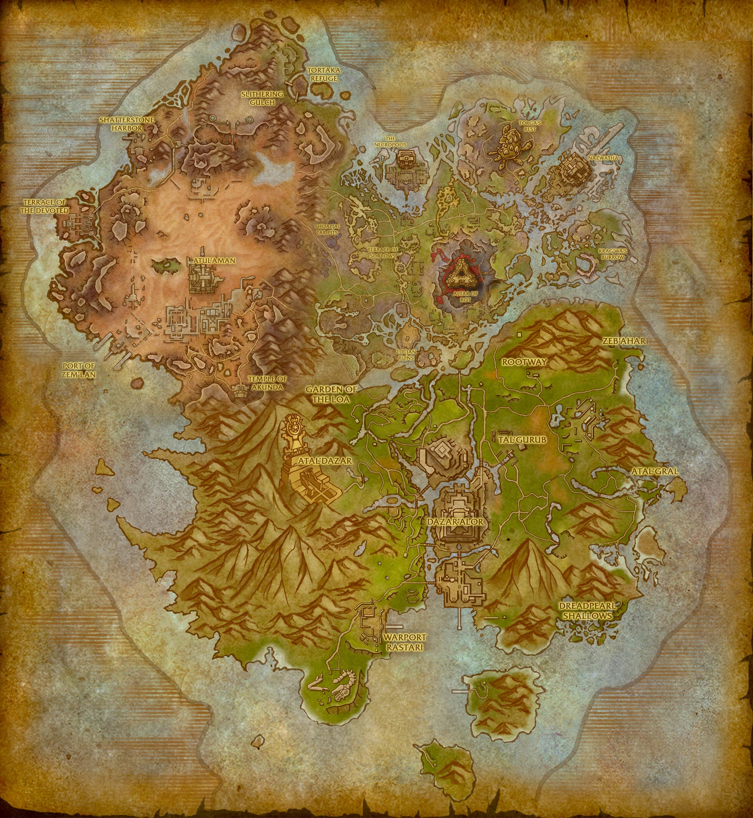 Zandalar world map
