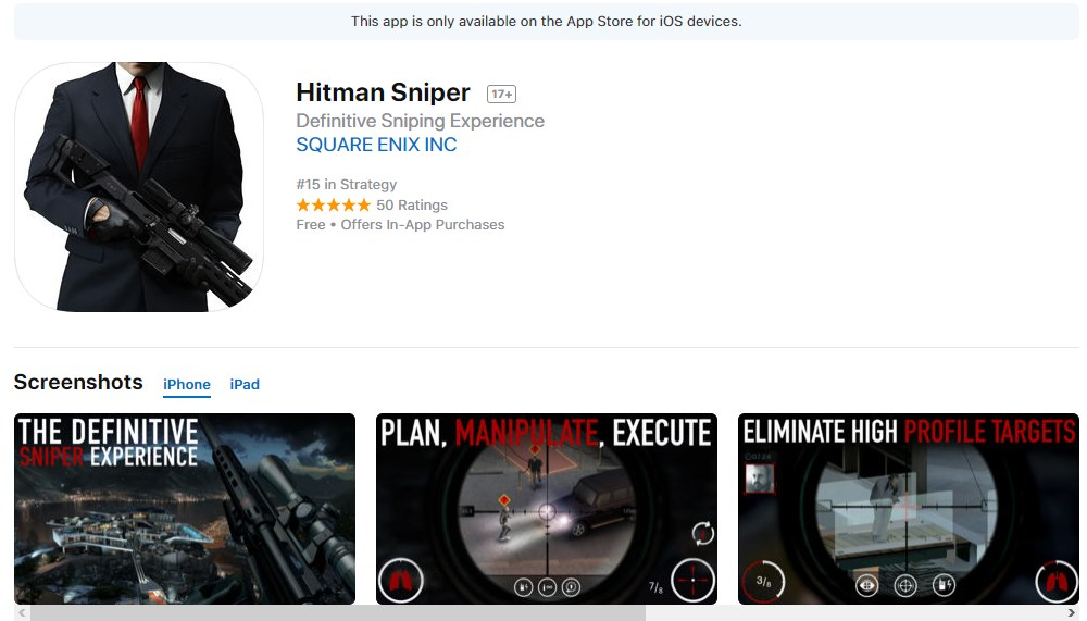 Hitman Sniper Free IOS Game
