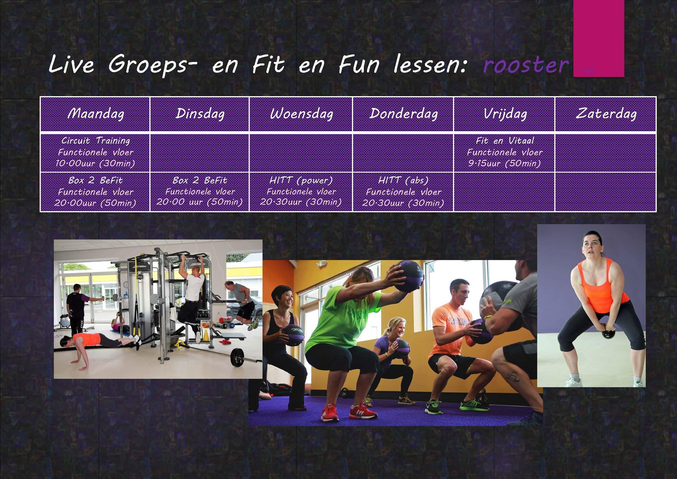 eigen fitness schema maken