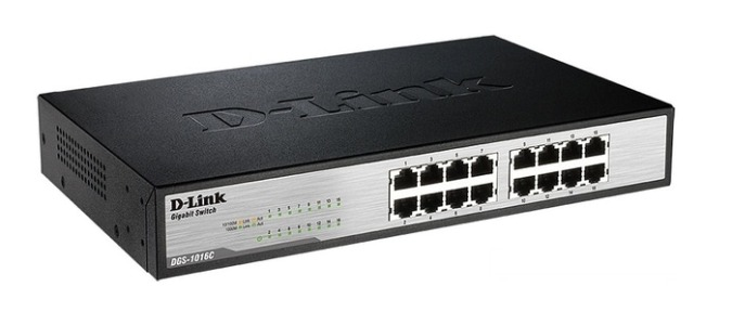 SWITCH HUB DLINK 16 PORT GIGABYTE  DGS-1016C