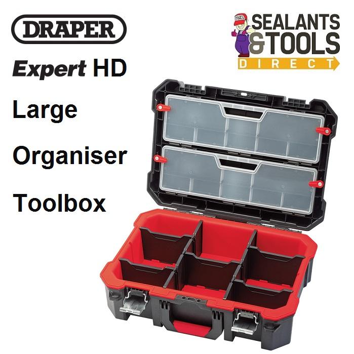 Draper Expert Heavy Duty Organiser Large Case 82643 UC494