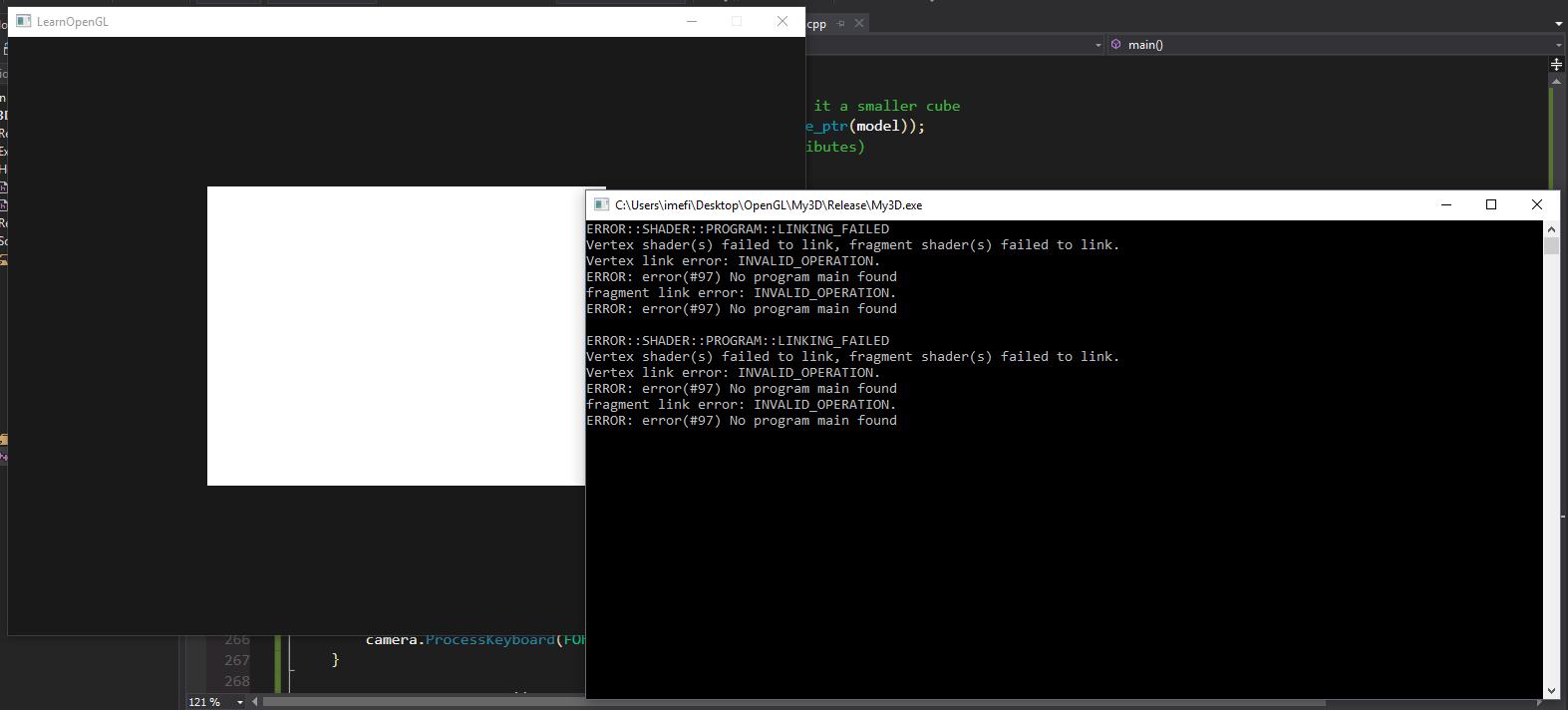 OpenGL Debug and release