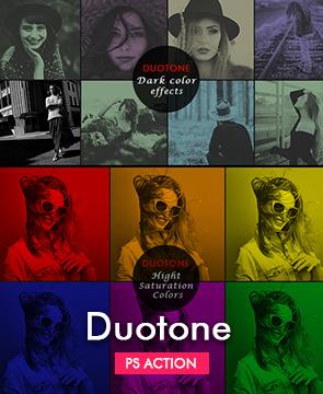 Duotone Photoshop Action  - Duotone - Tech Sketch Photoshop Action