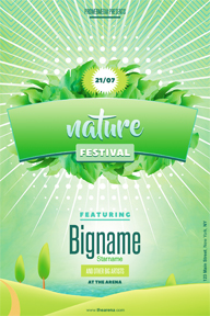 Environmental Nature Leafs Flyer Template - 96