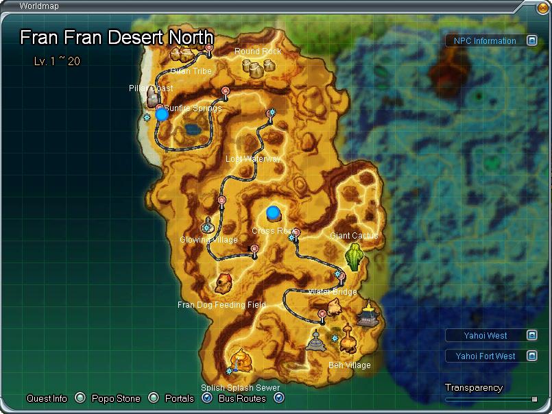 Fran Fran Desert North aberto