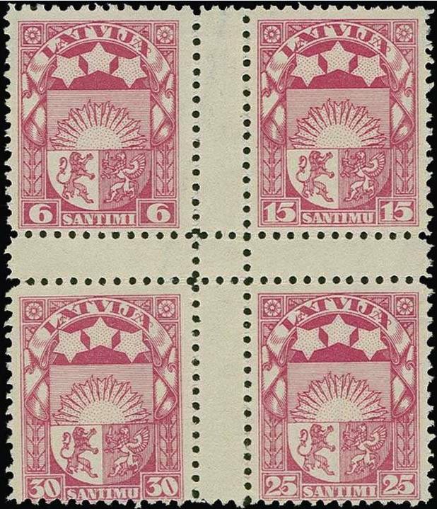 Izmēģinājuma iespiedums rozā krāsā ar zobojumu. Uzskata, ka šajā krāsā eksistē tikai daži eksemplāri. Pārdots izsolē par 2300 €.