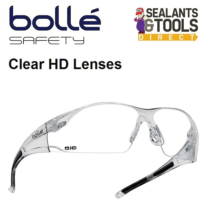 Bolle Clear HD Rush Safety Glasses RUSHDPI