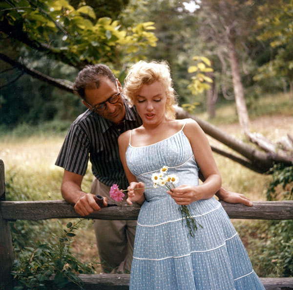 Marilyn Monroe and Arthur Miller photographed by Sam Shaw 1957 3