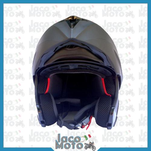 Casco Modulare Omologato Moto e Scooter 120020 NERO OPACO ECE 2205 P Turismo