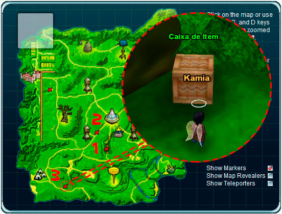 Caixa de Item perto do Portal Majin