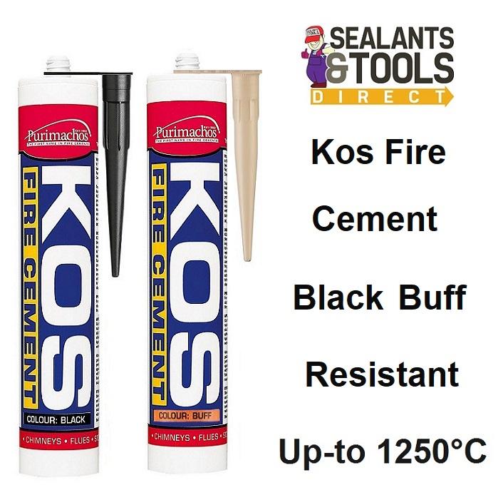 Everbuild Purimachos Kos Fire Cement Buff or Black 300ml