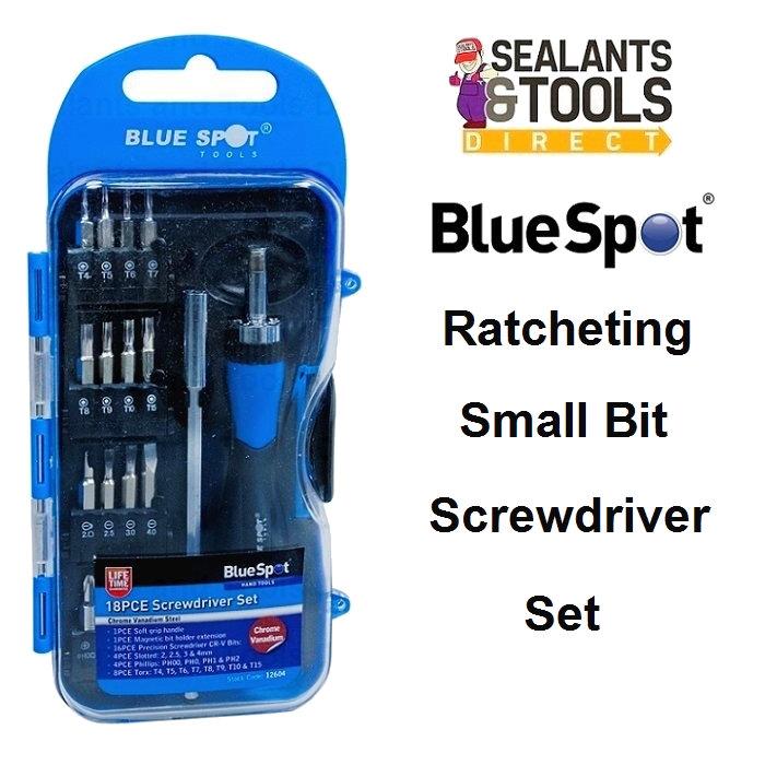 Blue Spot Small Bit Ratchet Screwdriver Set 12604