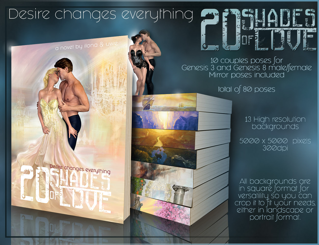 20 Shades of Love – Backgrounds and poses for G3-G8
