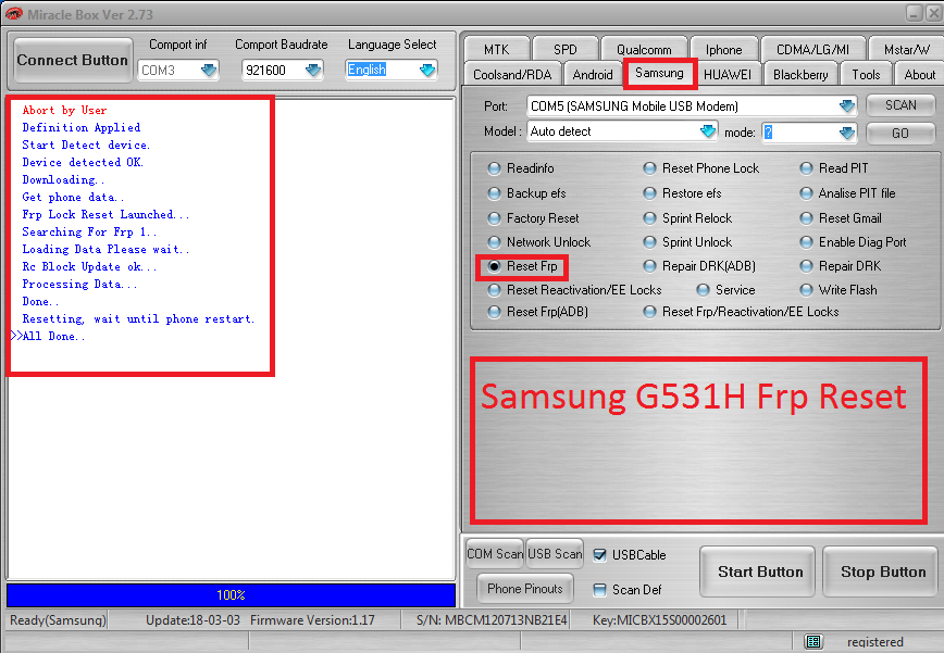 Samsung G531H Frp Reset Done BY Miracle Box - GSM-Forum