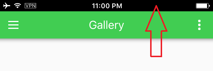 Ios Navigation header Color