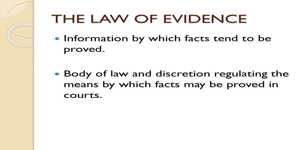 Virtue Law Evidence
