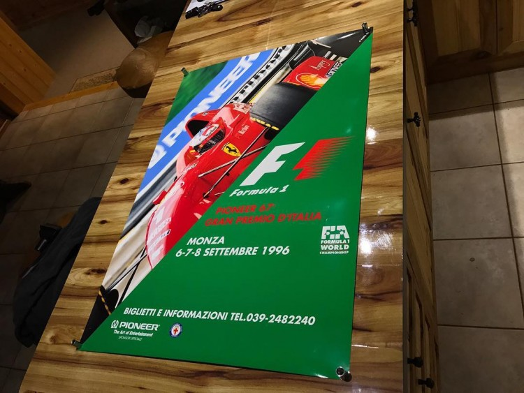 1996 MONZA F1 RACE POSTER