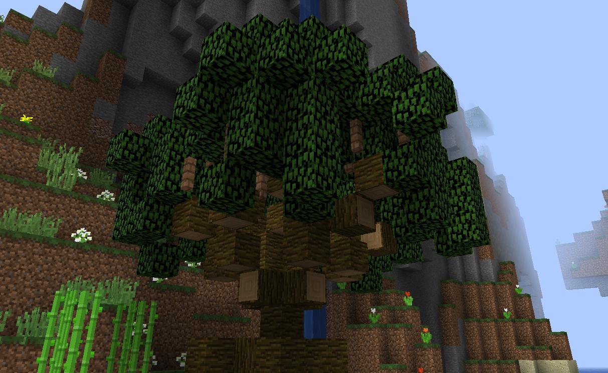 Mangrove tree with logs