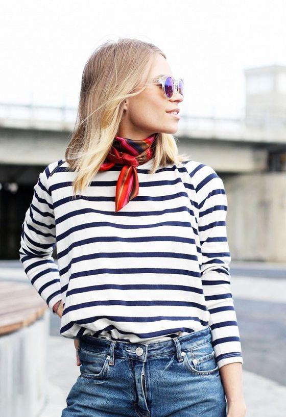 baju stripe tee garis garis