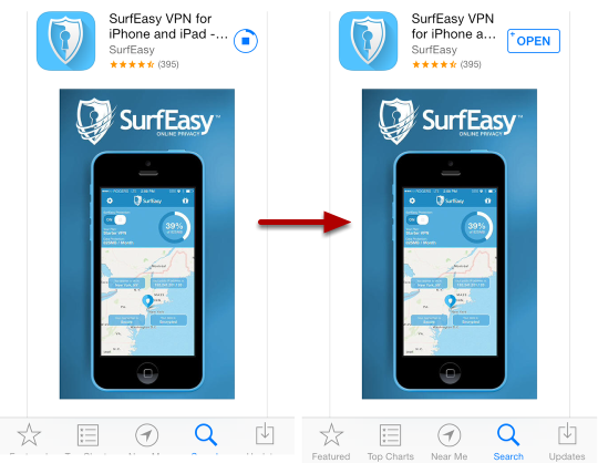 SurfEasy VPN for iPhone and iPad