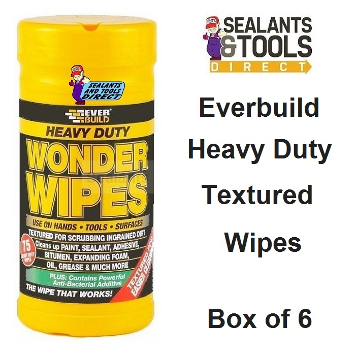 Everbuild Wonder Wipes Textured Box of 6 WIPEHD75-6