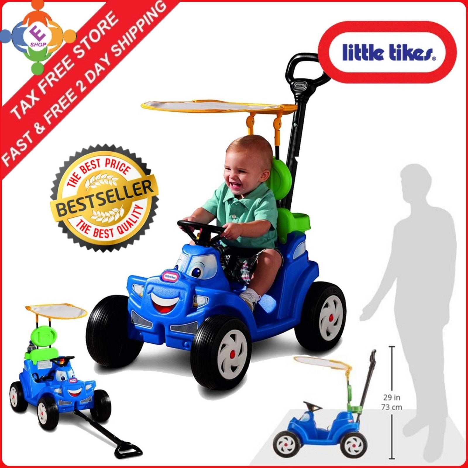 bd80e836877 Details about Ride On Toys For Girls Boys Toddlers Riding 1-4 Year Old  Gifts Baby 2-in-1 Cozy