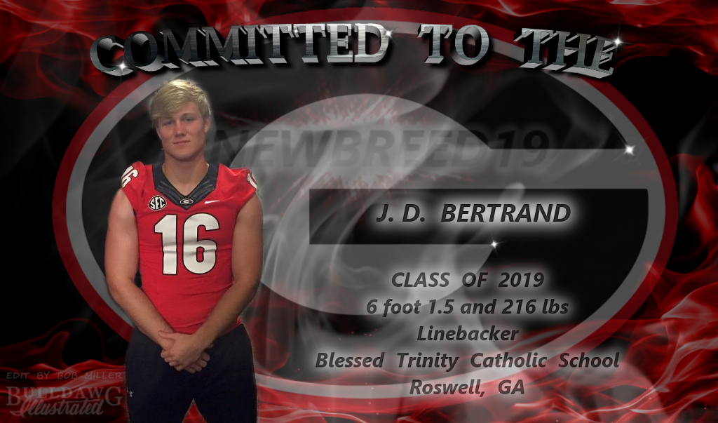 J.D. Bertrand Committed To The G edit by Bob Miller/Bulldawg Illustrated