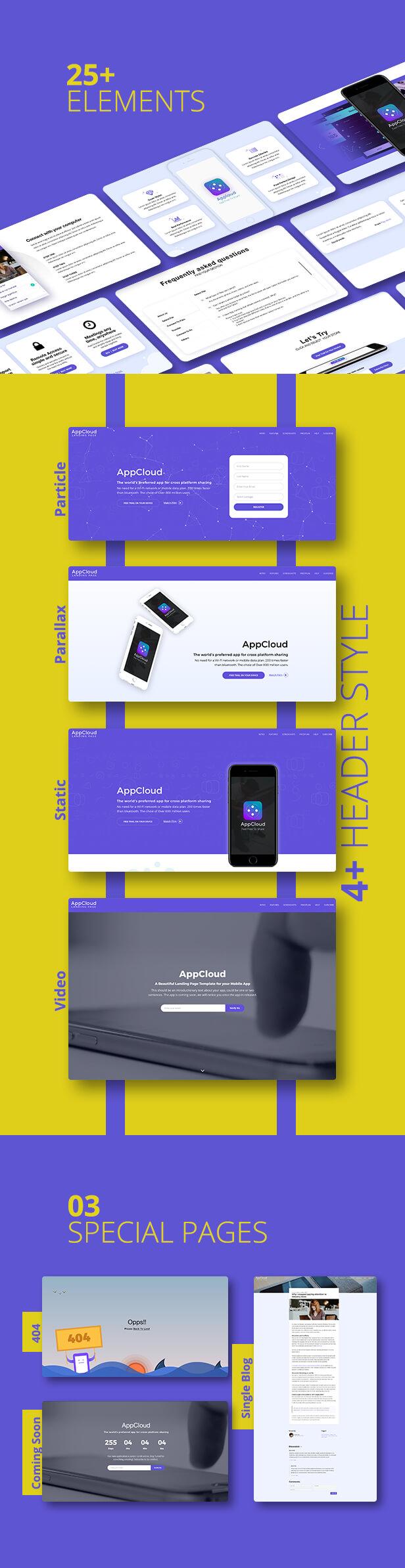 AppCloud Responsive App Landing Page - 4