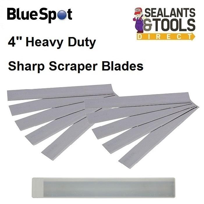 Blue Spot 100mm 4 inch Sharp Scraper Blades 36407