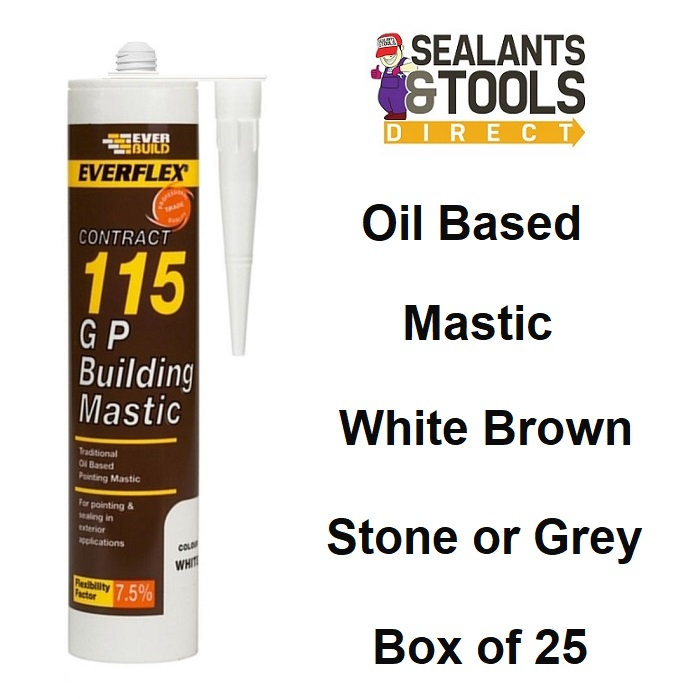Everbuild 115 GP Oil Based Traditional Building Mastic Box 25
