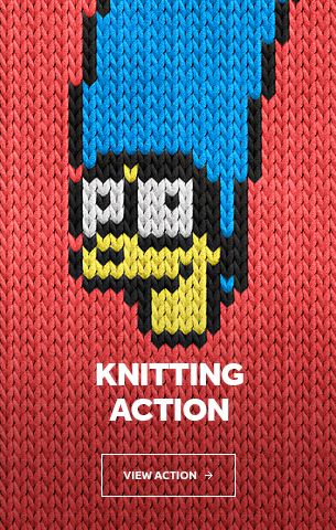 Knitting Photoshop Action