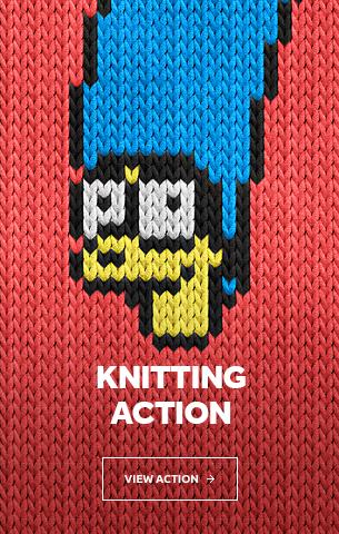 Knitting Photoshop Action