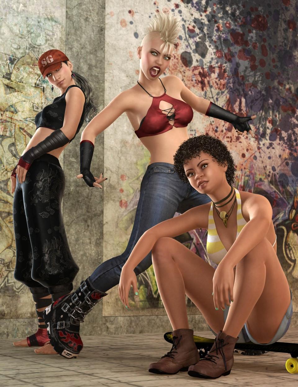 Capsces Street Fun Poses & Expressions for Genesis 3 Female & Kalea 7