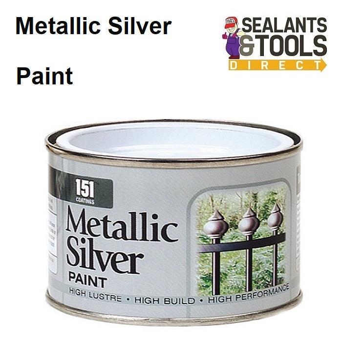 Details About 151 Metallic Silver Paint 180ml Tin Internal External Craft Railing Decorating