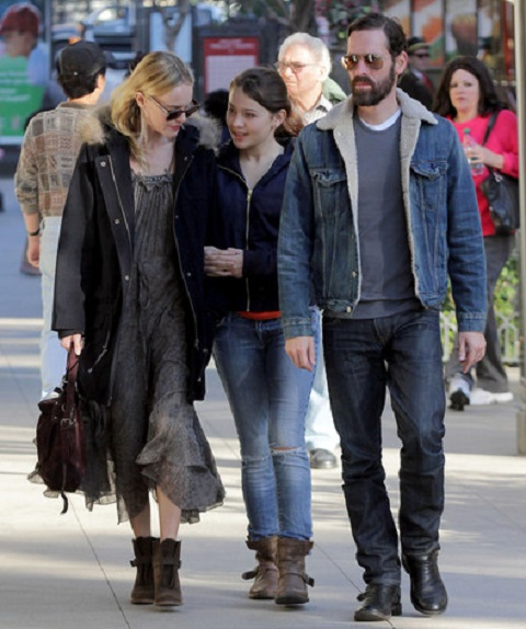 Kate Bosworth and Micheal Polish with Micheal's daughter Jasper Polish
