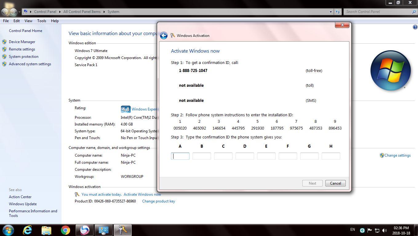 تفعيل windows 7 ultimate 32 bit