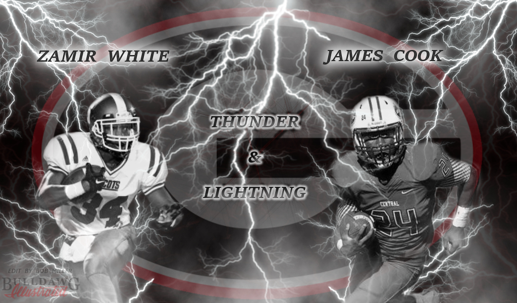 Thunder and Lightning, Zamir White and James Cook edit by Bob Miller