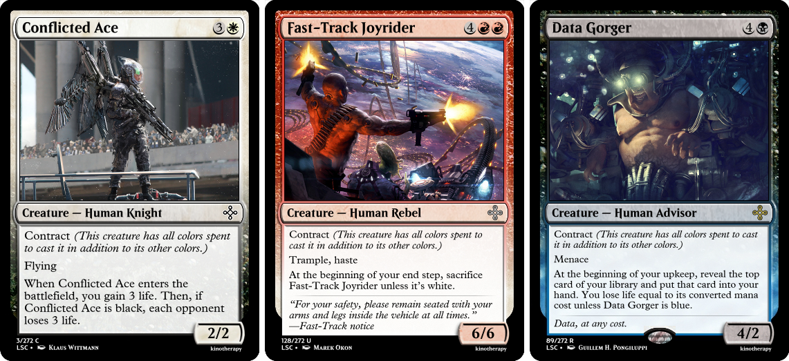 Conflicted Ace, Fast-Track Joyrider, Data Gorger