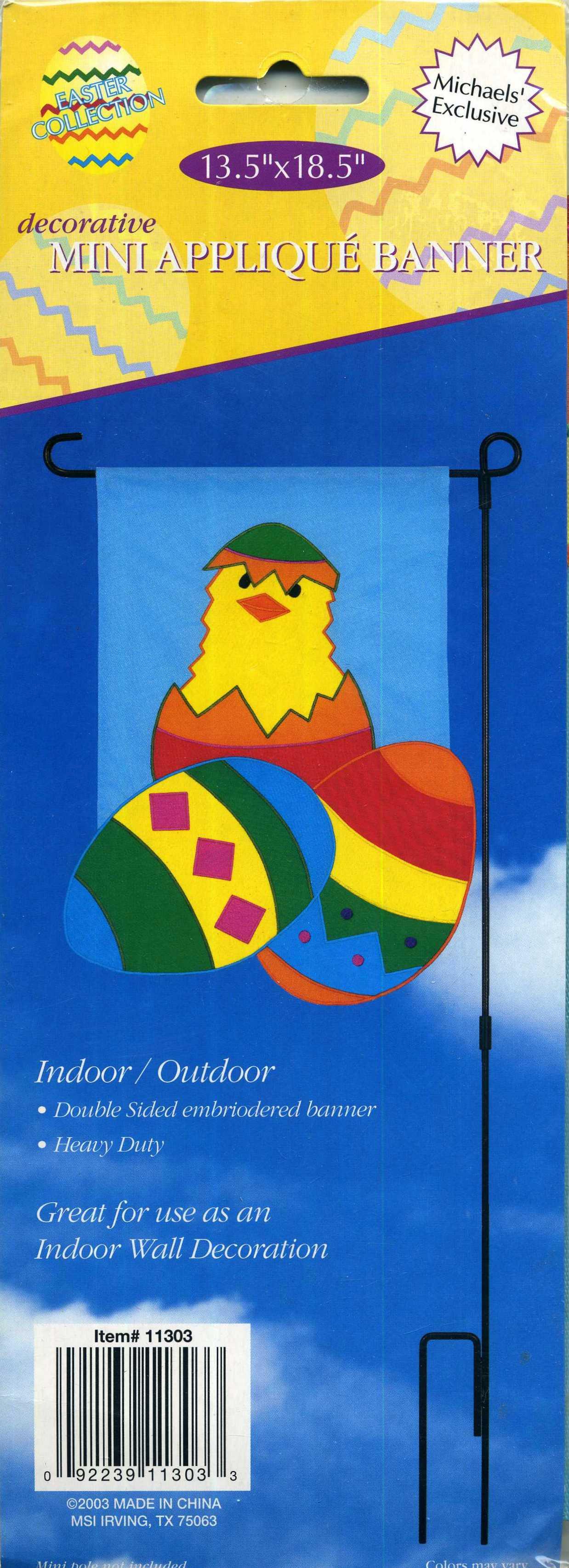 Michaels' Exclusive Easter Collection Indoor Outdoor Mini Applique Banner