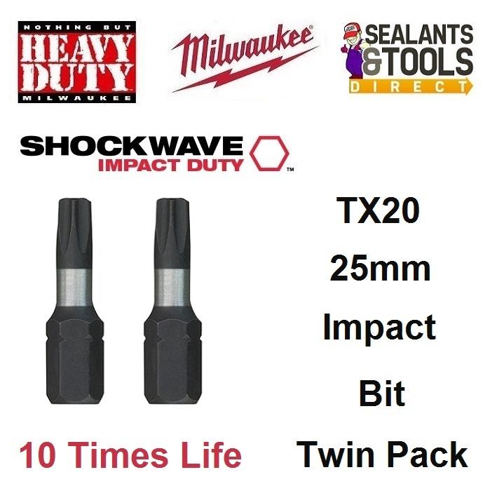 Milwaukee TX20 Torx Impact Bit 4932430874