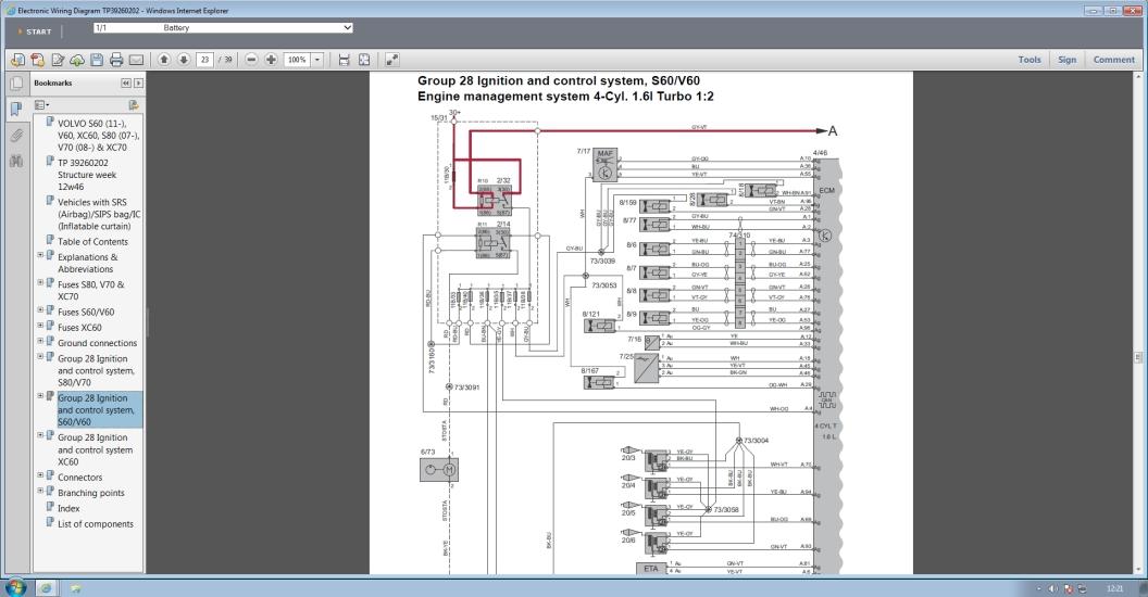 VOLVO Vida 2014D plus EWD 2014D workshop manual wiring diagrams VMWARE image