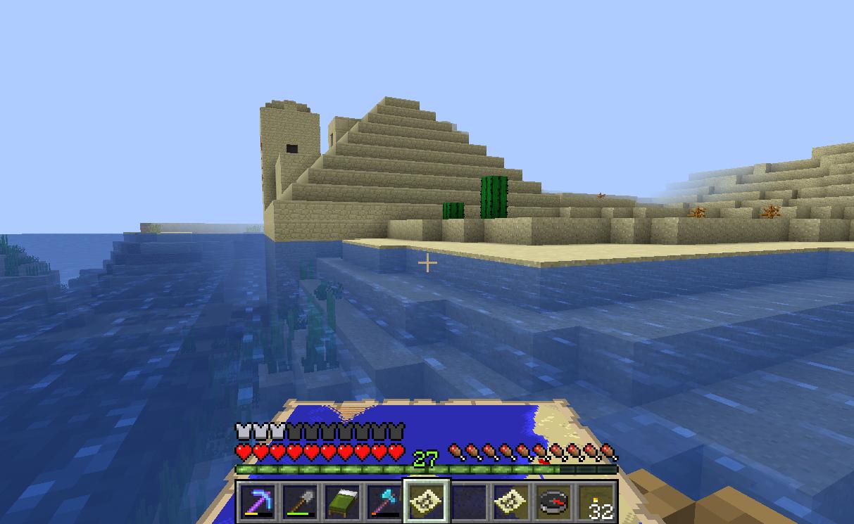 Desert temple hiding additional treasure