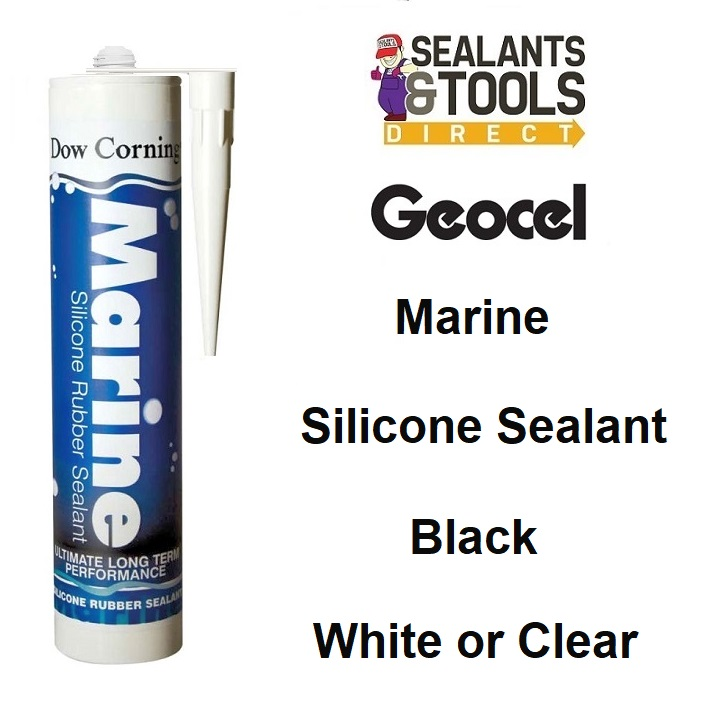 Geocel Marine Rubber Silicone Sealant 310ml Black Clear White