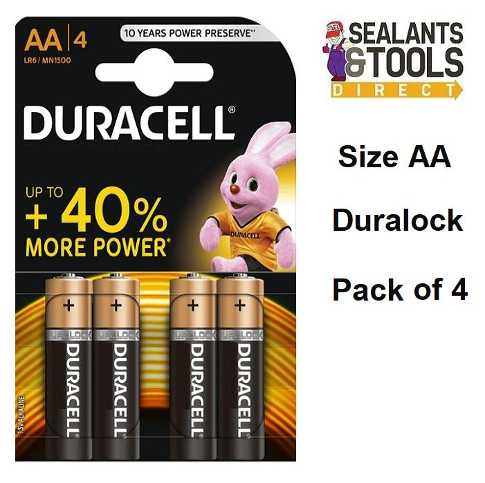 DURACELL Duralock AA Battery 4 PACK