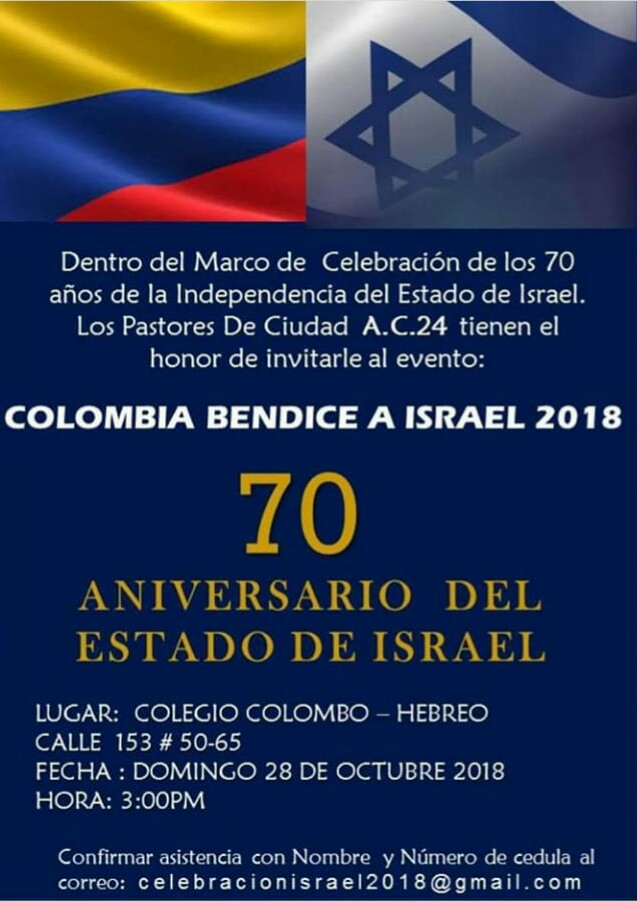 Colombia bendice a israel