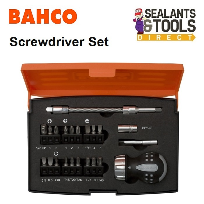Bahco Stubby Ratchet Screwdriver Set 808050S-22