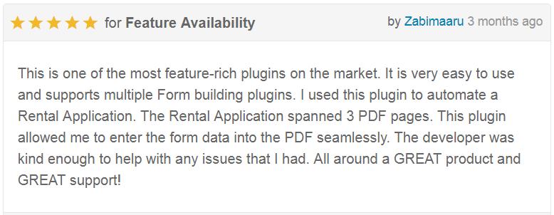 Form Generating PDF -  WordPress plugin - 3